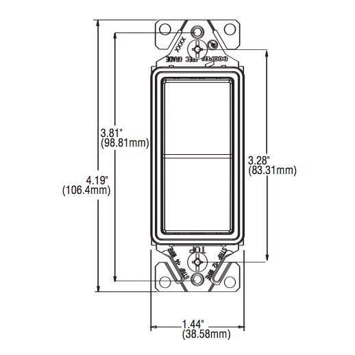 Eaton Standard Grade 15 Amp 120-Volt/277-Volt 4-Way Decorator Switch on