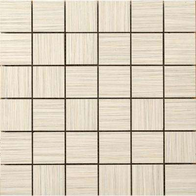 Strands Oyster 12 in. x 12 in. x 10 mm Porcelain Mesh-Mounted Mosaic Tile
