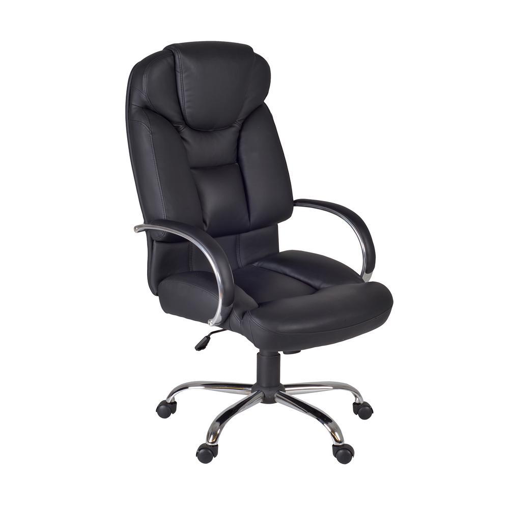 Beau Regency Goliath Black Big And Tall Swivel Chair