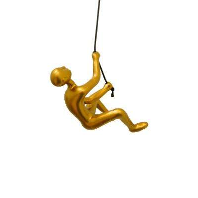 Climbing Man Gold Wall Art