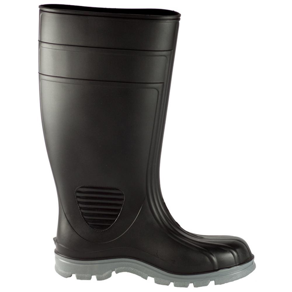Men's Size 11 Black Poultry Tuff Industrial Steel Toe PVC Boot