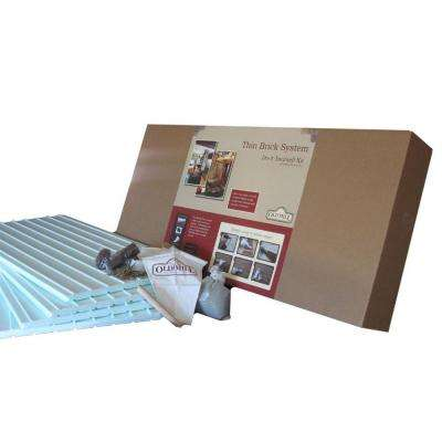 56 sq. ft. Thin Brick Do-It-Yourself Installation System