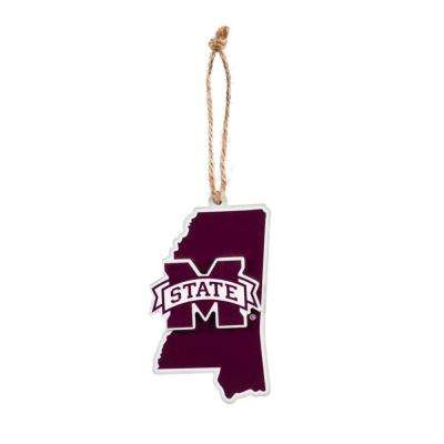 Mississippi State University 5 in. NCAA Team State Christmas Ornament