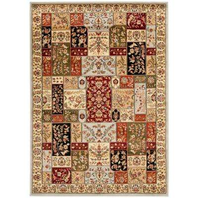 Lyndhurst Gray/Multi 8 ft. x 11 ft. Area Rug