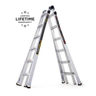 26 ft. Reach MPX Aluminum Multi-Position Ladder with 375 lbs. Load Capacity Type IAA Duty Rating