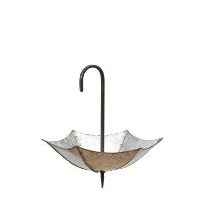 13 in. x 24 in. Galvanized Metal Hanging Umbrella Plant Holder