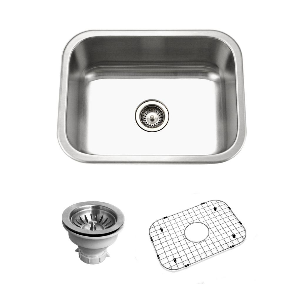 Belleo Series Drop-in Stainless Steel 23 in. Single Bowl Kitchen Sink