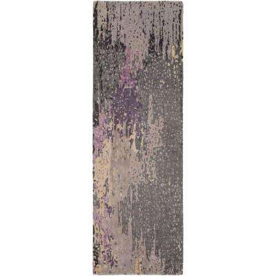 Atkinson Purple 3 ft. x 8 ft. Indoor Runner Rug