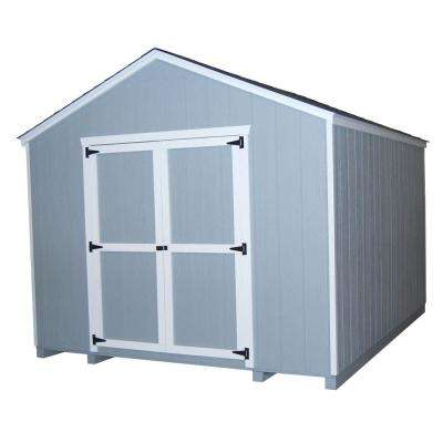 Value Gable 10 ft. x 16 ft. Wood Shed Precut Kit with Floor