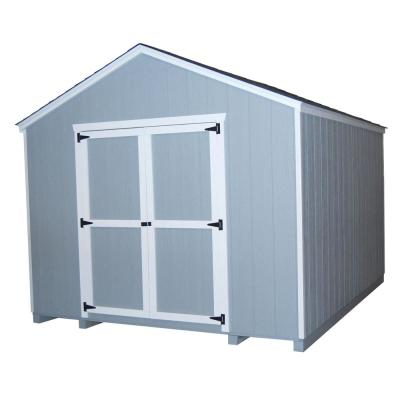 Value Gable 8 ft. x 10 ft. Wood Shed Precut Kit with Floor