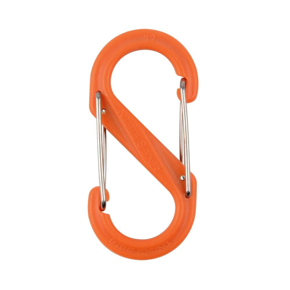 2 in. Orange Plastic Carabiner Clip