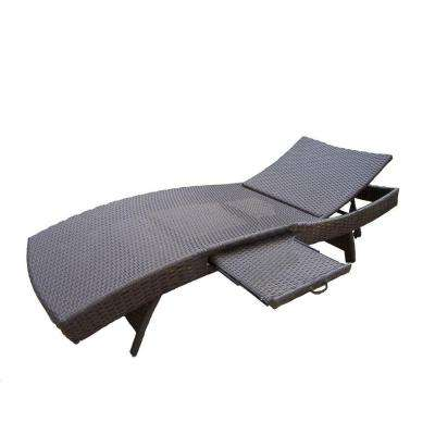 Elite Resin Patio Wicker Chaise Lounge
