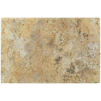 Tuscany Scabas 16 in. x 24 in. Brushed Travertine Pool Coping (10 Piece / 26.7 Sq. ft. / Pallet)