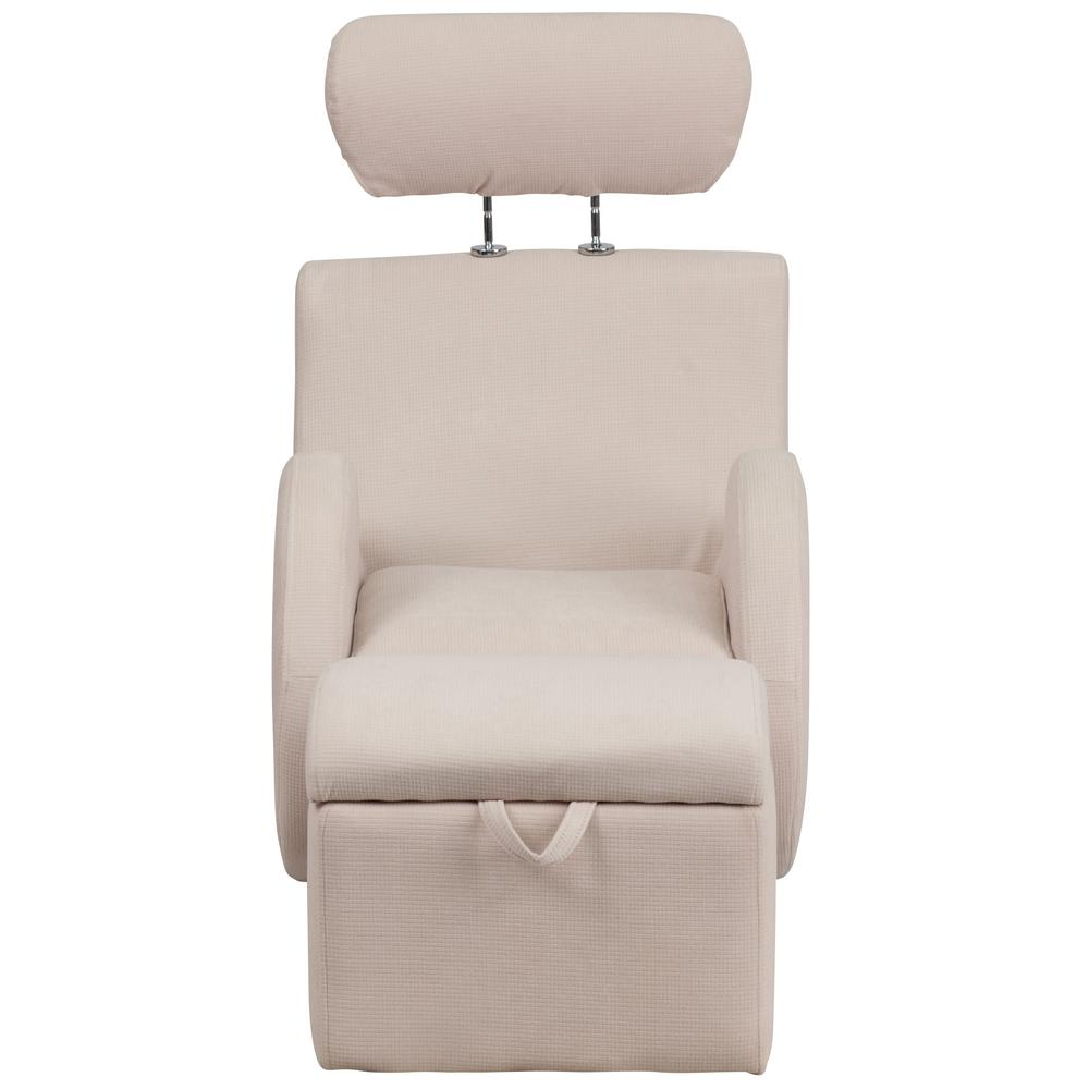 Flash Series Beige Fabric Rocking Chair Storage Ottoman Hercules Product Picture