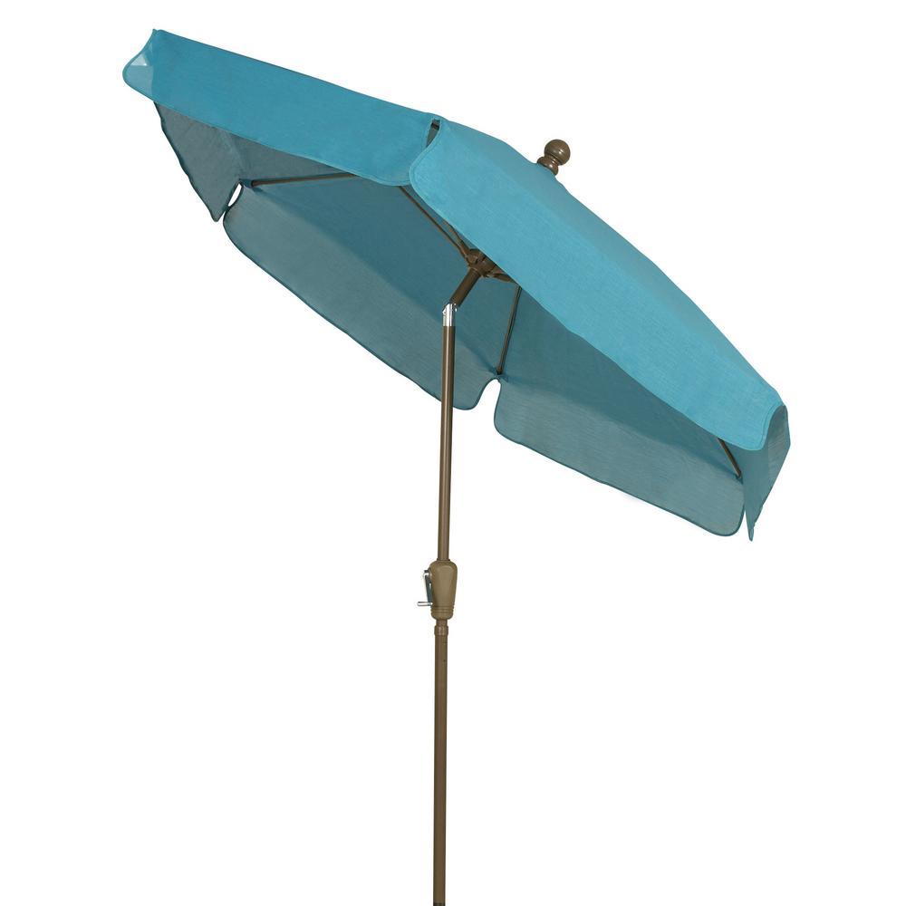 Fiberbuilt Umbrellas 7.5 ft. Tilt Patio Market Umbrella in Teal