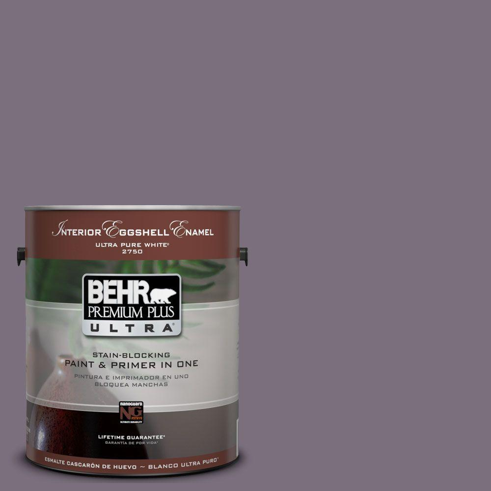 BEHR Premium Plus Ultra 1-Gal. #UL250-20 Plum Shadow Interior Eggshell Enamel Paint