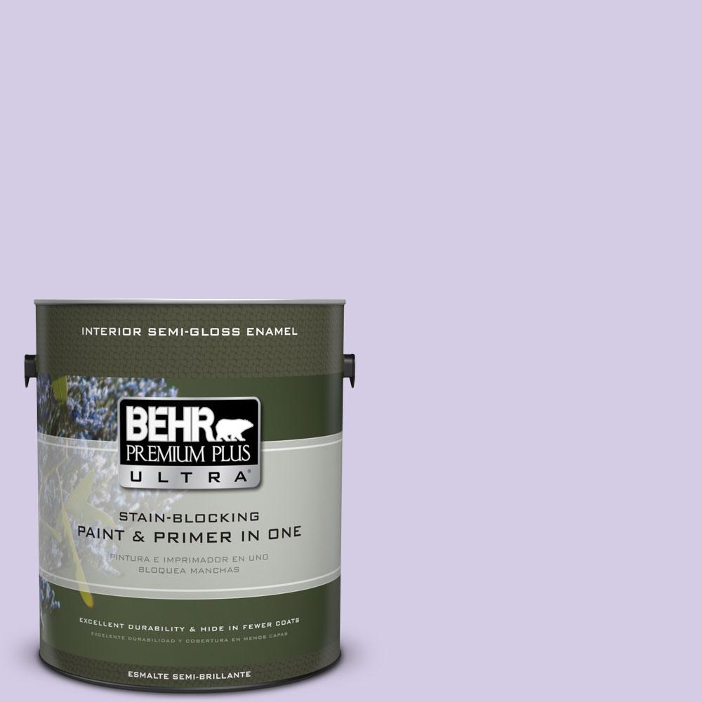 1-gal. #640A-3 Potentially Purple Semi-Gloss Enamel Interior Paint