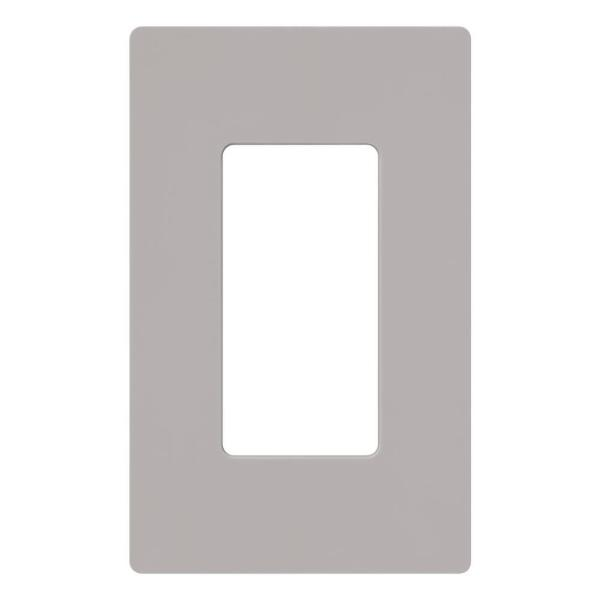 Claro 1 Gang Decorator/Rocker Wallplate, Gray (1-Pack)