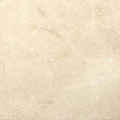 Marble Crema Marfil Plus Honed 17.99 in. x 17.99 in. Marble Floor and Wall Tile