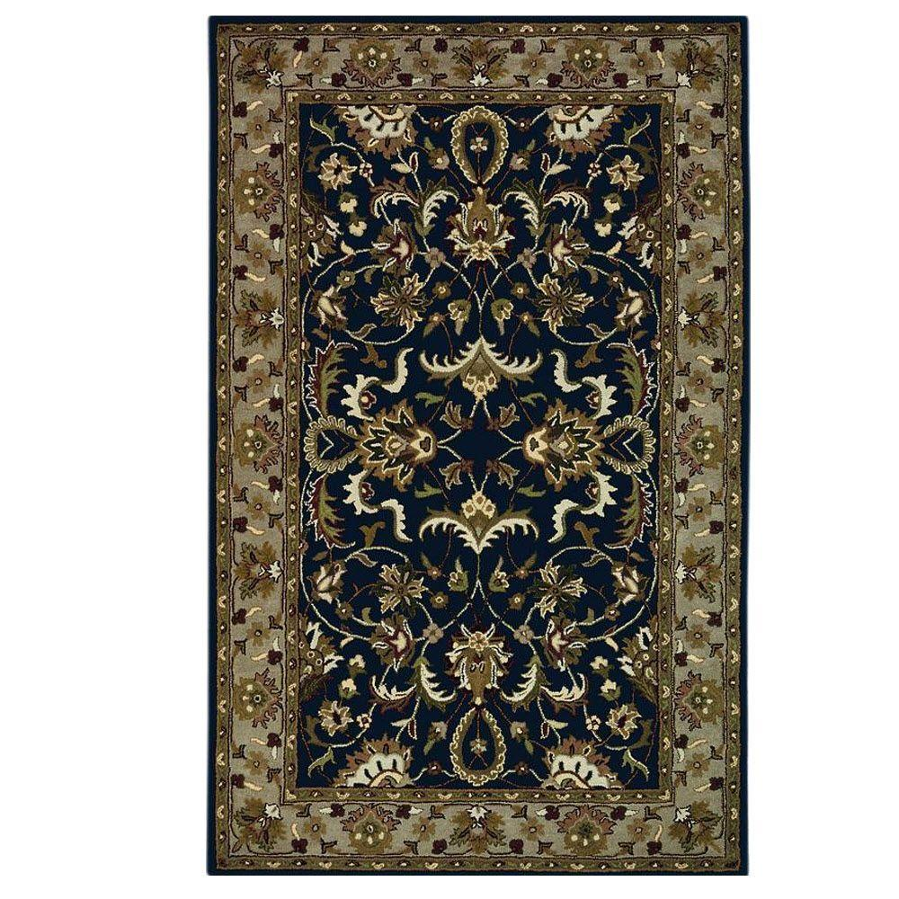 Home decorators collection constantine midnight blue beige for Home decorators rugs blue