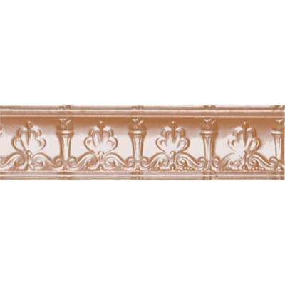 4 in. x 4 ft. x 4 in. Satin Copper Nail-up/Direct Application Tin Ceiling Cornice (6-Pack)
