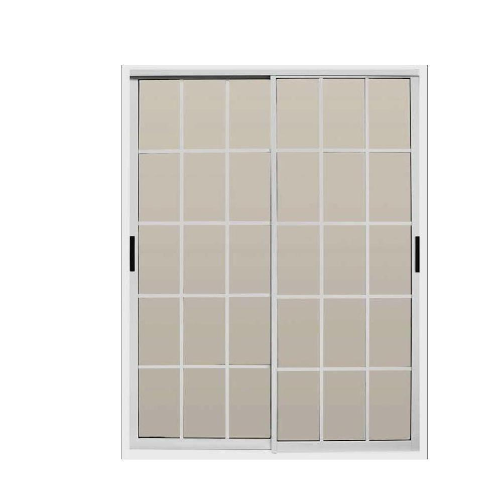 Air master windows and doors 72 in x 80 in aluminum for Home depot windows and doors