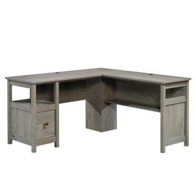 Cannery Bridge Mystic Oak L-Shaped Desk