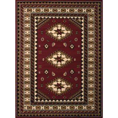Dallas Tres Burgundy 8 ft. x 11 ft. Indoor Area Rug