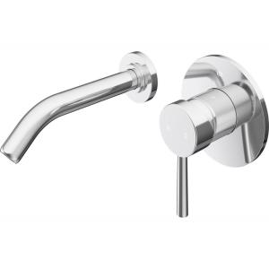 Olus Single-Handle Wall Mount Bathroom Faucet in Chrome