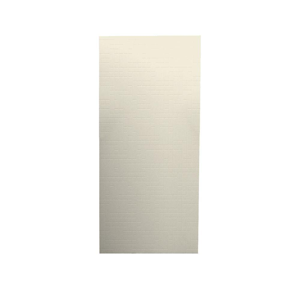 Swanstone Geometric 1/4 in. x 36 in. x 96 in. One Piece Easy Up Adhesive Shower Wall in Bone-DISCONTINUED