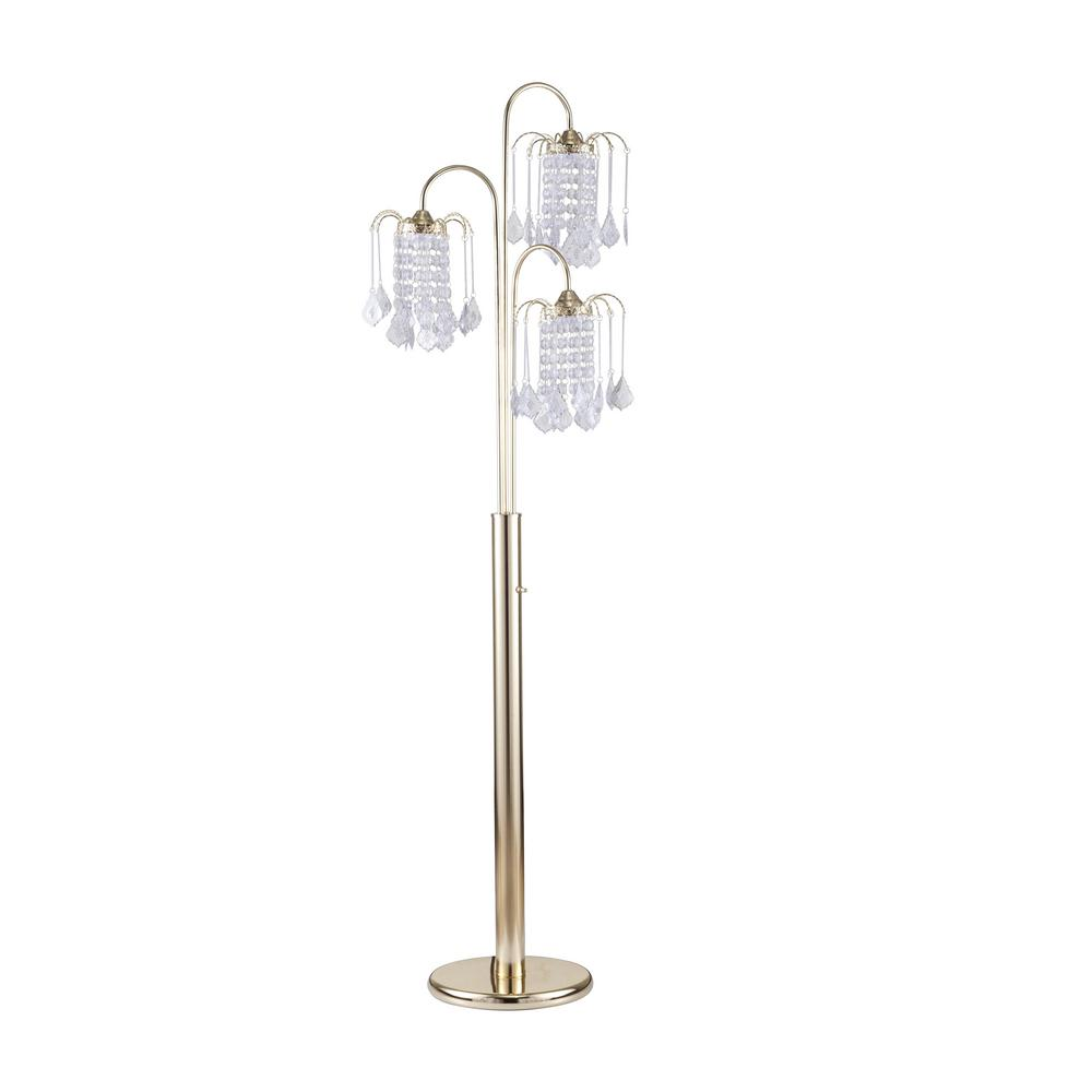 Octavia Floor Lamp Brass: ORE International 63 In. Polished Brass Polished Brass