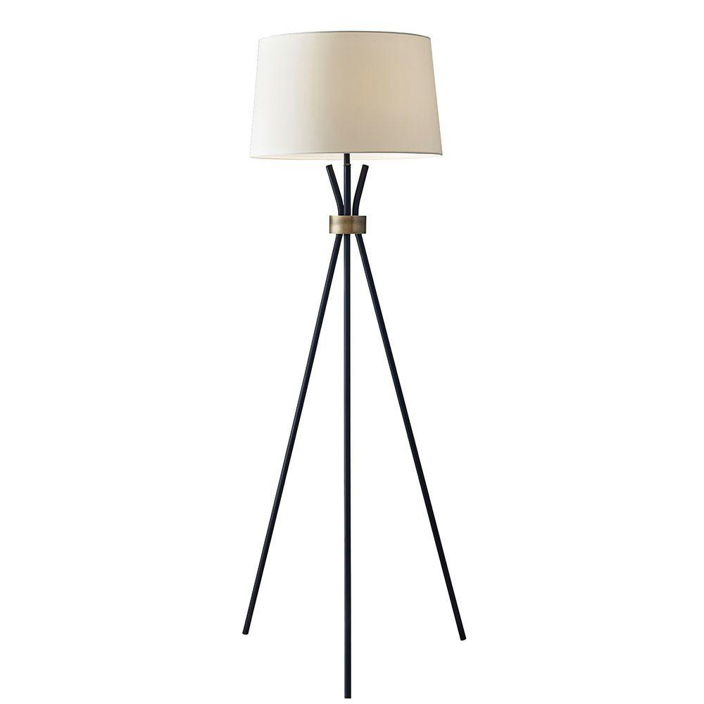 Benson 60 in. Black Floor Lamp