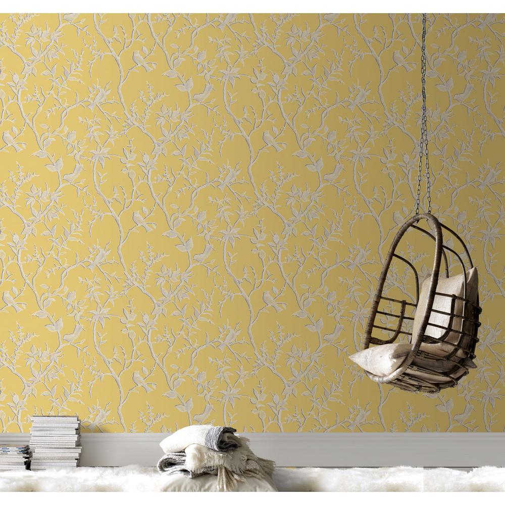 Laos Trail Yellow Removable Wallpaper