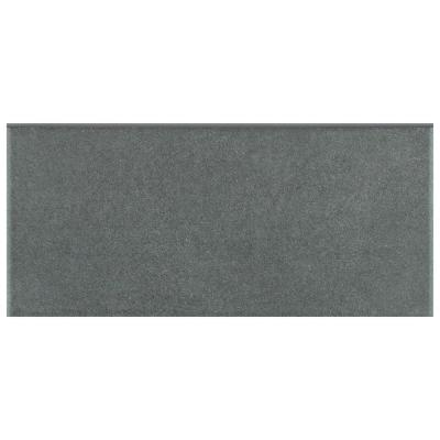 "Twenties Black 3-1/2""x 7-3/4"" Ceramic Bullnose F/W Trim"
