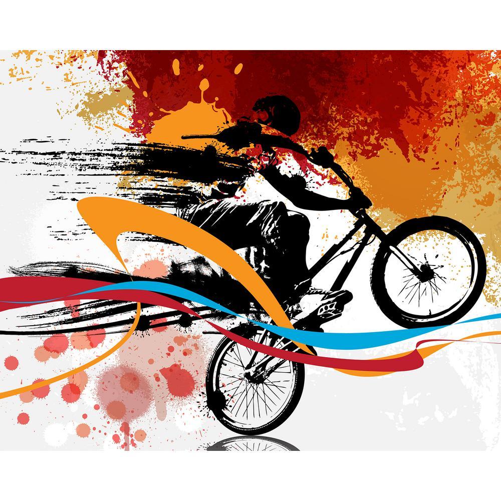 Orange Urban Bike Wall Applique