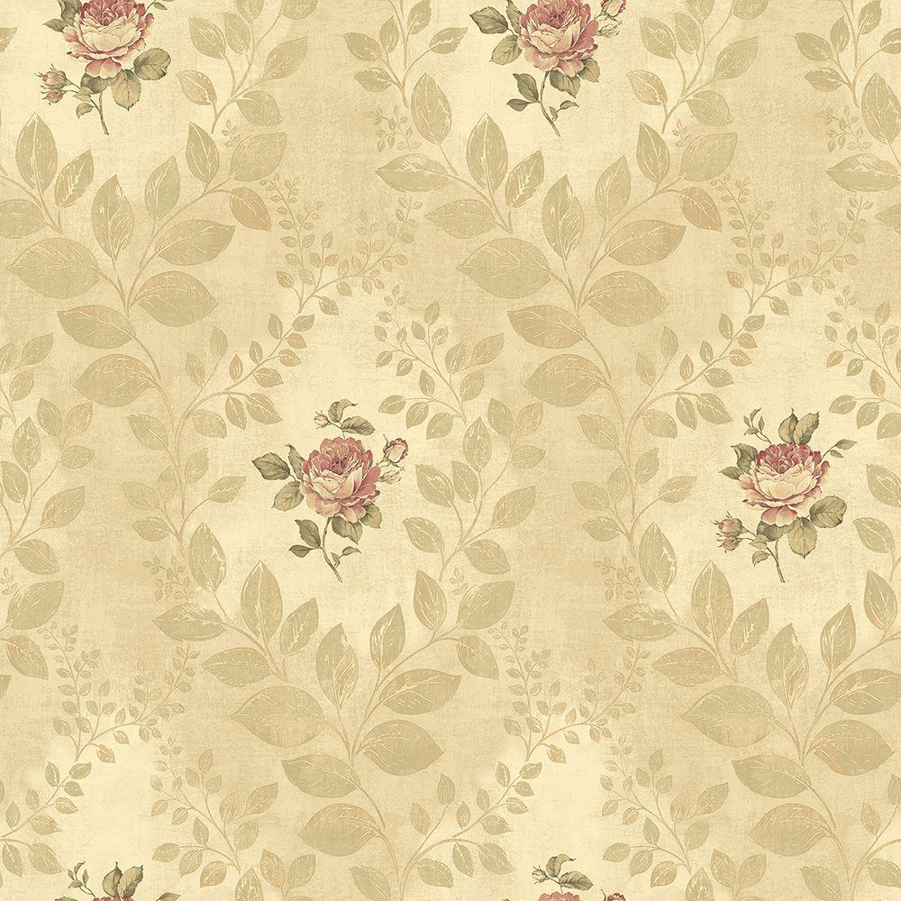 Chesapeake Darby Rose Gold Cameo Wallpaper
