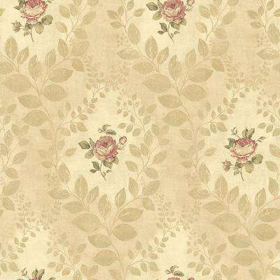 Darby Rose Gold Cameo Wallpaper Sample