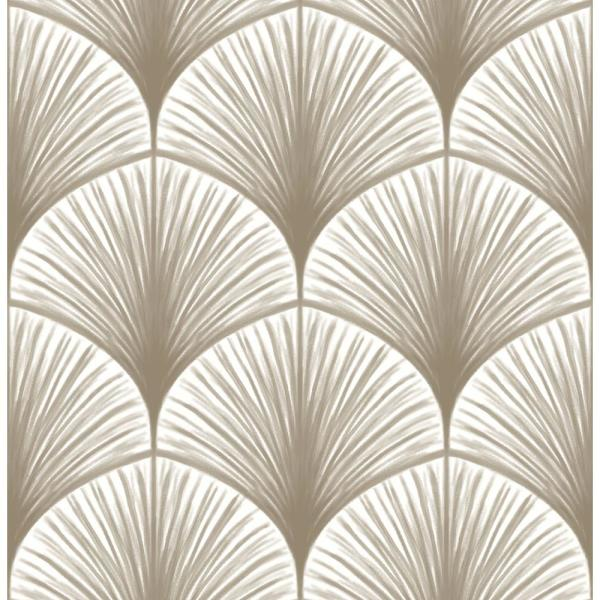 A-Street 56.4 sq. ft. Dusk Taupe Frond Wallpaper 2763-24231