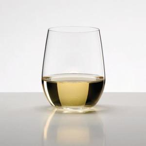 O Series 11.25 oz. Stemless Crystal Viognier and Chardonnay Wine Glass 2-Pack
