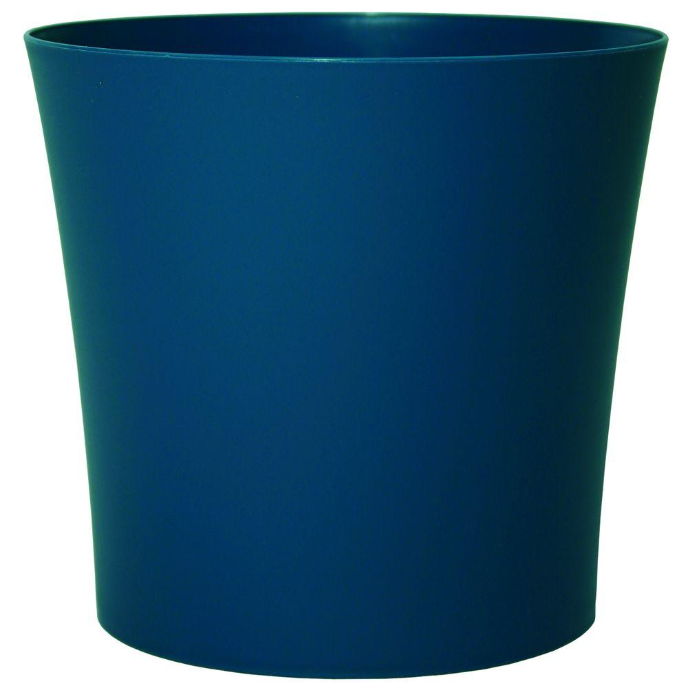 Leland 5 in. Dia Bluemoon Blue PVC Planter (6-Pack)
