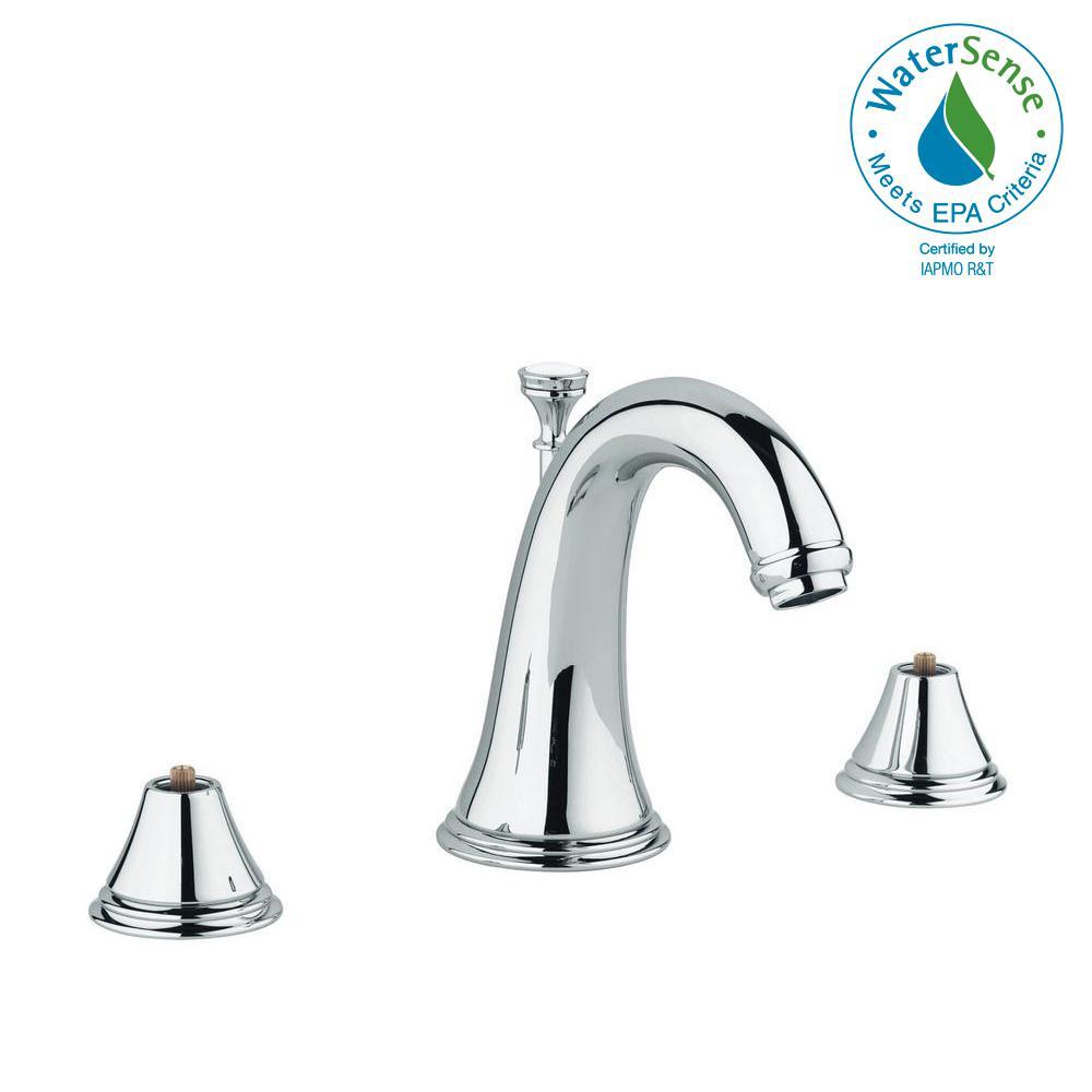 Grohe Geneva 8 In Widespread 2 Handle 1 Gpm Bathroom Faucet Starlight Chrome