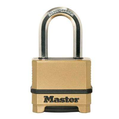 M175XDLF Magnum 2 in. Wide Zinc Set Your Own Combination Padlock with 1-1/2 in. Extra Long Shackle