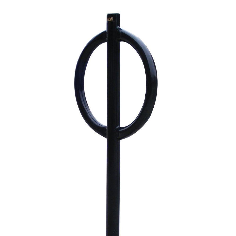 44 in. Black Pedestal Bicycle Rack