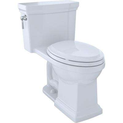 Promenade II 1-piece  1.28 GPF Single Flush Elongated Toilet with CeFiONtect in Cotton White
