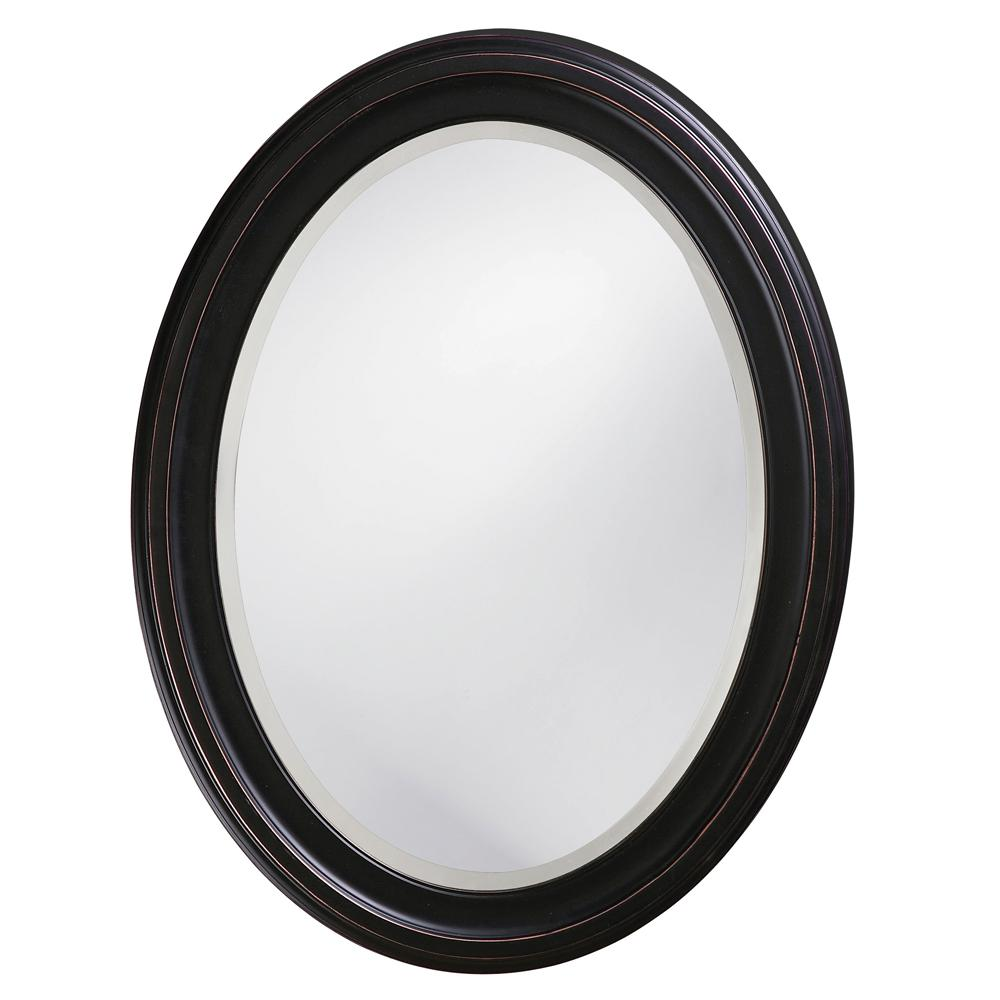 25 In X 33 In Oil Rubbed Bronze Round Framed Mirror 40108 The