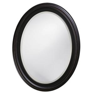 25 In X 33 In Oil Rubbed Bronze Round Framed Mirror