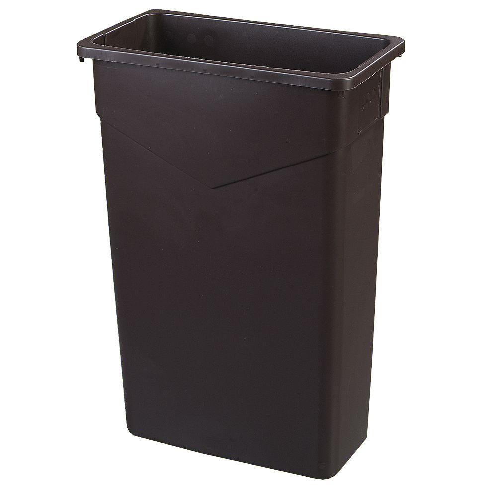 Carlisle TrimLine 23 Gal. Brown Rectangular Trash Can (4-...