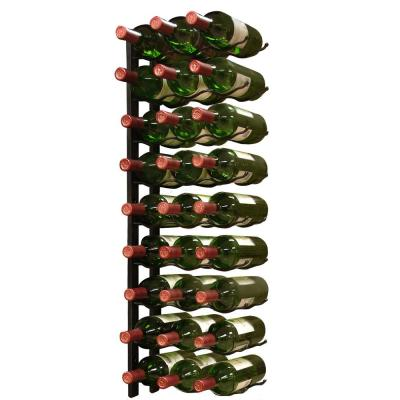 27-Bottle Metal Wine Rack in Black