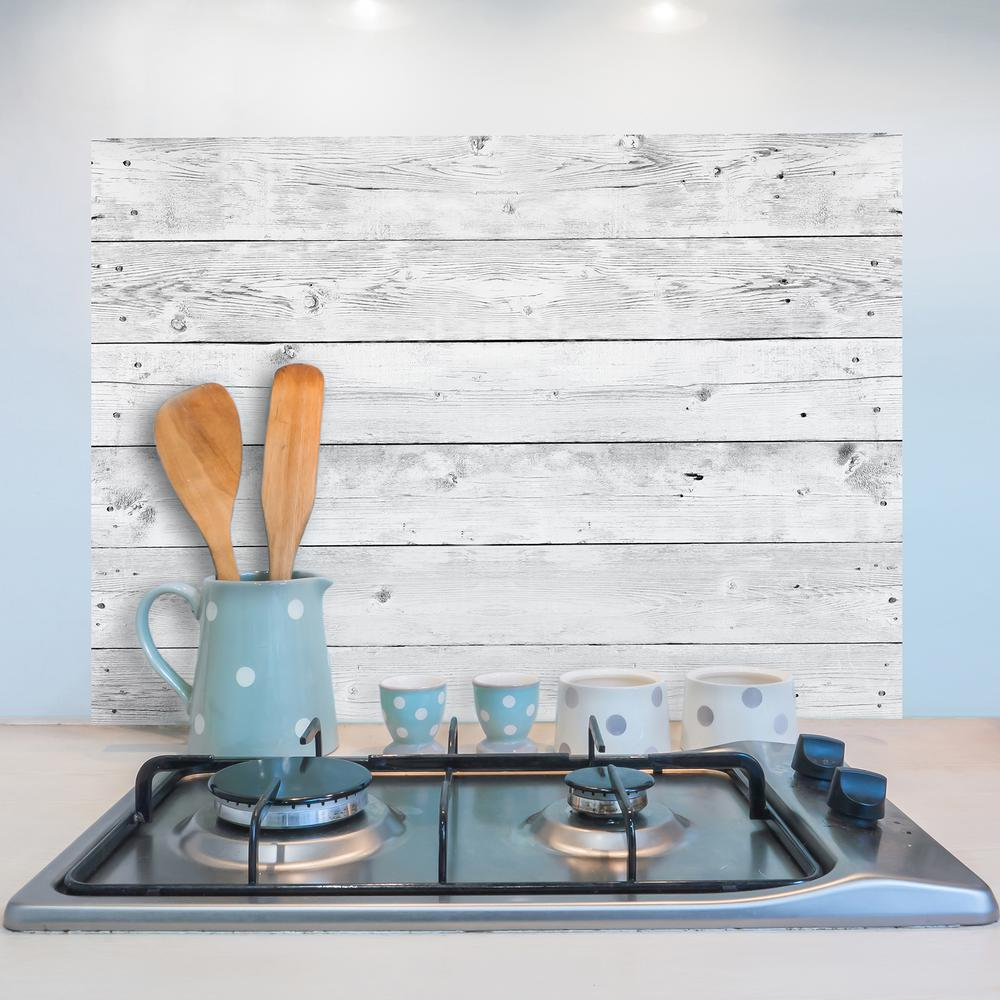 Brewster Grey Wood Kitchen Panel Wall Decal
