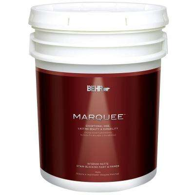 5 gal. Ultra Pure White Matte Interior Paint and Primer in One